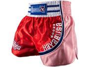 Hayabusa Lion Warrior Muay Thai Fight Shorts - 2XL - Red/Blue 9SIA1TB3SM7608