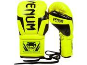 Venum Elite Long Cuff Lace Up Boxing Gloves - 16 oz. - Neo Yellow 9SIA1TB4UF5052