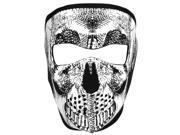 Zan Headgear Neoprene 4mm Full Tactical Mask - Black/White Skull 9SIA9C04PG3273