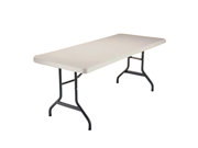 Lifetime Almond 6 Foot Utility Table with Folding Legs