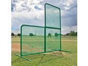 Foldable Baseball L Screen, 7' x 7' w/ Wheels - Varsity