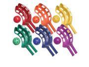 Scoop Ball Set Plastic Assorted Colors 2 Scoops 1 Ball Per Set 6 Sets