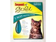 Sergeant's Pet Care Gold Squeeze-On For Cats, Under 5#/3Pack - 01061