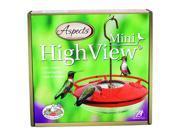 Hummzinger Highview Mini Hummingbird Feeder Color: Red/clear,  Size: 8 Oz