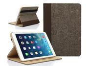 SUPCASE New Apple iPad Mini with Retina Display (2nd Generation) Slim Hard Shell Premium Textile/Leather Case - Brown, Support Auto Wake/Sleep (Smart Cover Func