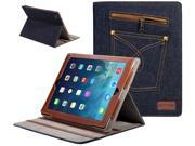 SUPCASE Jeans Series for New Apple iPad Air Slim Fit Folio Case Multi angle Stand Support Auto Sleep Wake Smart Cover Function Compatible with iPad 5 5th