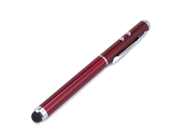 Maroon 3-in-1 Stylus Red Laser Pointer LED Light Pen Powerful Beam