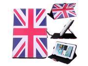 HDE Universal Vintage UK Flag Leather Folding Folio Case for 7 Tablets