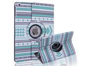 HDE iPad Air Case Leather Folding Magnetic Cover Rotating Stand (Geometric Tribal)