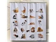 Multipurpose Shower Curtain W/ Negative Ions CATS AND DOGS