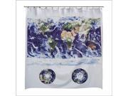Multipurpose Shower Curtain W/ Negative Ions Astro-View Map