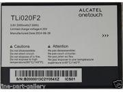 New Original/Genuine OEM Alcatel One Touch TLi020F2 2000 mAh Premium Spare Battery For One Touch Glory 2, One Touch Inspire 2, One Touch M Pop