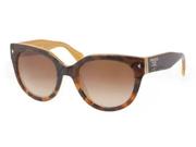 PRADA Sunglasses PR 17OS FAL1Z1 Light Havana 54MM