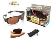 HD Vision Fold Aways High Definition Sunglasses- Black