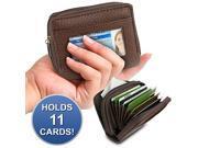 Accordion Cardholder Wallet (Brown)