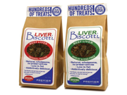Premier Liver Biscotti Dog Treats, Wheat/Egg Free Recipe, Original Bite Size, 8oz. Bag