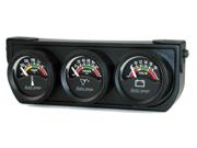 Auto Meter Autogage Electric Mini Oil/Volt/Water Gauge Black Console