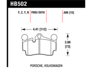 Hawk Performance HB502Z.606 Disc Brake Pad 9SIV04Z4XK6797