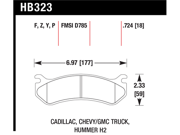 Hawk Performance HB323Y.724 Disc Brake Pad 9SIA4PE1GX7862