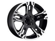 Ultra Maverick 8X17 Black - Diamond Cut Rim
