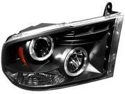 IPCW Projector Headlight CWS-423B2 07-09 Dodge Ram PU Black