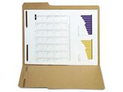 Reinforced Kraft Folder, Two Fasteners, 1/3 Cut Top Tab, Letter, Brown