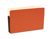 S J Paper S76111 Durable File Pocket, 5 1/4 Inch Expansion, 11 3/4 x 9 1/2, Legal, Red, 10/Box