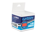 One-Line Pricemarker Labels, 7/16 X 13/16, Fluor. Red, 1200/Roll, 3 Ro