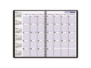 "Recycled Monthly Academic Planner, Black, 7 7/8"""" x 11 7/8"""", 2013-2015"" 9SIA3ZT1BP6590"