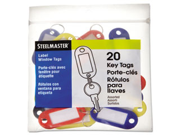 Steelmaster Key Tag with Label Window 1 PK