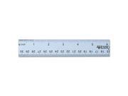Westcott 14767 Aluminum Ruler 12 Length Blue