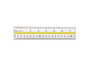 Acrylic Data Highlight Reading Ruler With Tinted Guide 15 Clear