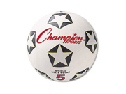 Rubber Sports Ball For Soccer No. 5 White Black
