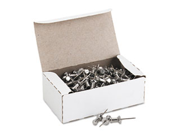Aluminum Head Push Pins Aluminum Silver 5 8 100 Box