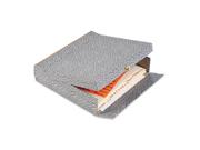 """Oxford 40574 2-1/2"""" Capacity Box File Storage Box, Letter, Binder Board, Black/Orange"""