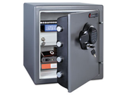 Electronic Fire Safe, 1.23 Ft3, 16-3/8W X 19-3/8D X 17-7/8H, Gunmetal