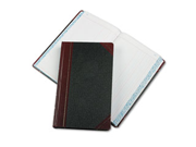 Record/Account Book, Journal Rule, Black/Red, 500 Pages, 14 1/8 x 8 5/