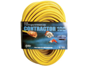 100 12 3 YELLOW EXTENSION CORD W LIGHTED END