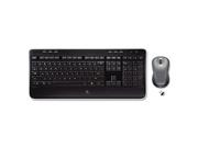Mk520 Wireless Desktop Set, Keyboard/Mouse, Usb, Black