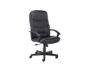 Basyx BSXVL641ST11 Executive High-Back Chair- 25-.75in.x28-.75in.x47in.- Black Leather