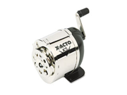 X-ACTO Model KS Manual Pencil Sharpener, Table- or Wall-Mount, Black-Chrome, EA - EPI1031