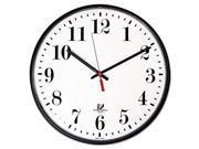 Quartz Slimline Clock 12 3 4 Black