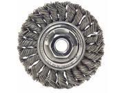 """Dualife St-8 Twist Knot Wire Wheel, 8""""""""dia, .023 Wire"""" 9SIA86E5AW0205"""