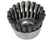 "3-1/2"""" Knot Wire Cup Brush .020 Cs Wire"" 9SIV01A2GR5450"
