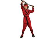 Child Boy Red Ninja Costume Rubies 881950