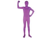 Child's Second Skin Purple Morph Costume Jumpsuit Boys Medium 8-10