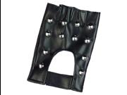 Gothic Punk Vampire Biker Costume Studded Fingerless PVC Gloves 9SIA1W20RM3208