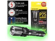 Nitecore Tactical Precise P25 Smilodon Rechargeable LED Flashlight Grey - 860 Lumens