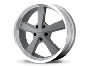 KMC Nova Wheel Gray Machined Lip 18X9 +35mm 5x114.3 (5x4.5) 2005-2014 Ford Mustang