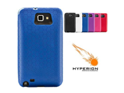 Hyperion Samsung Galaxy Note Extended Battery HoneyComb TPU Case Blue